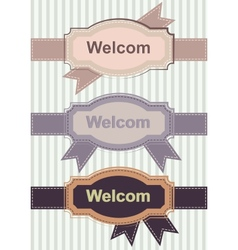 Welcom Retro Banners vector