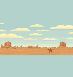 western landscape with a lone indian on horseback vector image