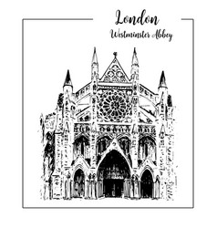westminster abbey london architectural symbol vector image