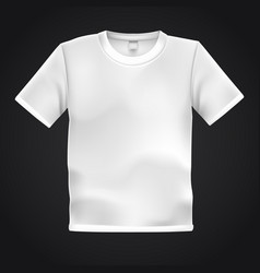 White t-shirt template isolated on black vector
