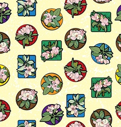 Apple flowers clip art pattern vector image vector image