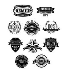 Banners and badges for guarantee design vector image