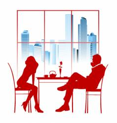 cafe city design vector image