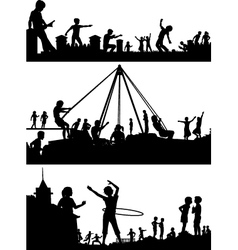 Playground foreground silhouettes vector image vector image