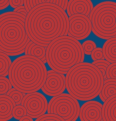 Red round pattern on blue background vertical vector image vector image