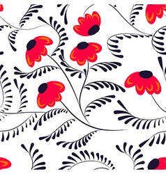 Beauty contrast simple seamless floral pattern vector image vector image