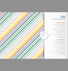 Colorful stripes pattern oblique lines copy space vector