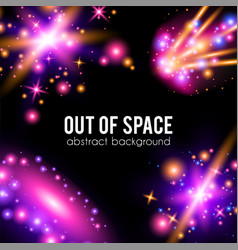 Galaxy abstract background with sparkling pink vector