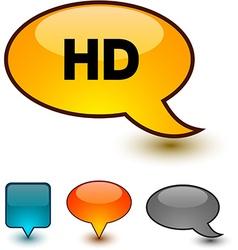 Hd speech comic icons vector