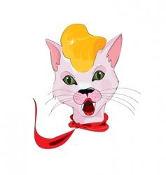 retro lady cat vector image