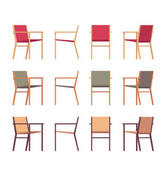set of retro armchairs in differnt colors vector image vector image