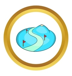 Ski slope of the snow mountain icon vector image vector image