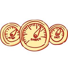Speedometer Dashboard vector image vector image