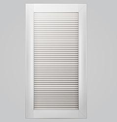 White window shutter vector