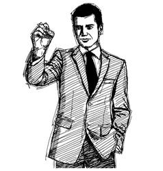 businessman writing vector image