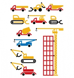 construction machines and equipment vector image vector image
