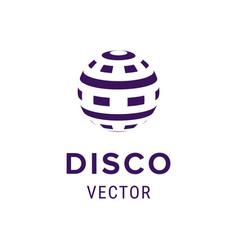creative logo design template label with disco vector image