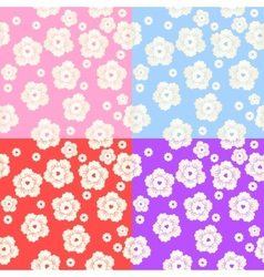 Set of Abstract Colorful Floral Pattern vector image vector image