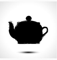 teapot kettle tea kettle silhouette stylized vector image vector image