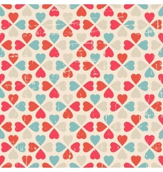 seamless pattern of Valentines Day in retro style vector image vector image
