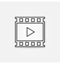 Video linear icon vector image vector image