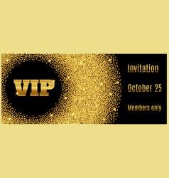vip club party premium invitation card poster flye vector image vector image