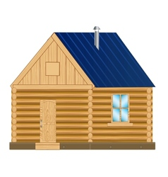 Wooden mansion vector image