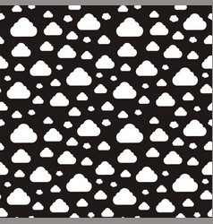Abstract pattern with clouds vector