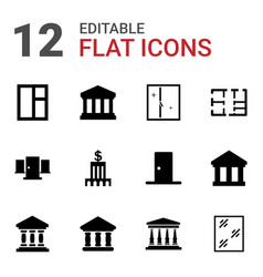 Architectural icons vector