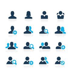 Avatar icons azure series vector