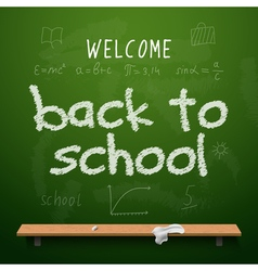 Back to school chalkboard design lettering vector image