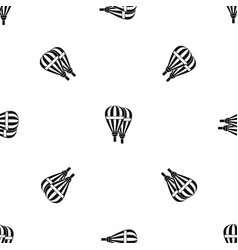 balloons pattern seamless black vector image