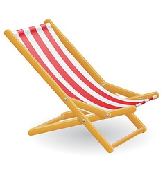 beach chair 01 vector image