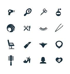 beauty salon icons set vector image