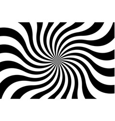 Black and white spiral background swirling radial vector