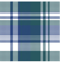 blue green color pixel plaid seamless pattern vector image