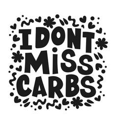 Carbs dangerous healthy lifestyle nutrition proble vector