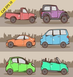 Cartoon Car Set 2 vector image vector image