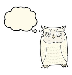 cartoon owl with thought bubble vector image