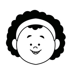 Cartoon woman face character people female vector
