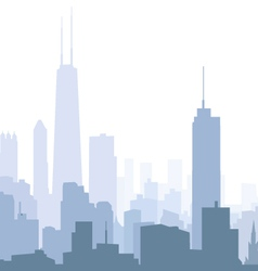 Chicago Morning Skyline vector image