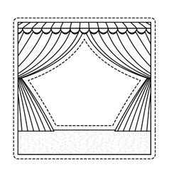 Circus curtain raises vector