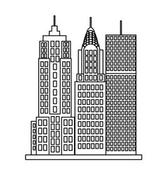 city buildings skyscraper vector image
