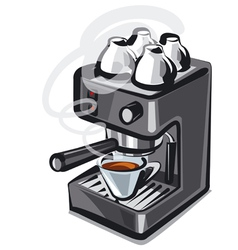 Coffee machine2 vector