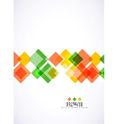Colorful square geometrical background vector