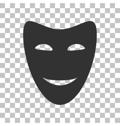 Comedy theatrical masks Dark gray icon on vector image