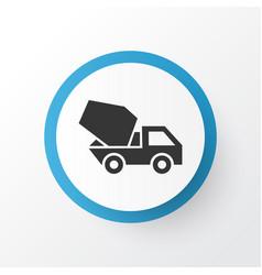 Concrete mixer icon symbol premium quality vector