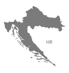 Croatia map grey vector