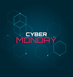 Cyber monday abstraction vector
