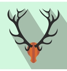 Deer head flat icon vector